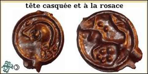 Potin à la tête casquée et rosace (REMES - REMI) 10hj534