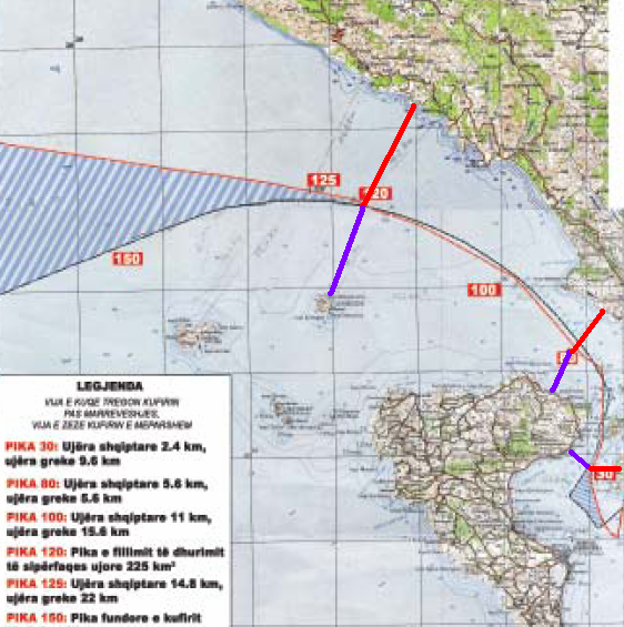 EKSKLUZIVE/ Harta sekrete, Greqisë i falim kufirin deri në Qeparo 11h5ctz
