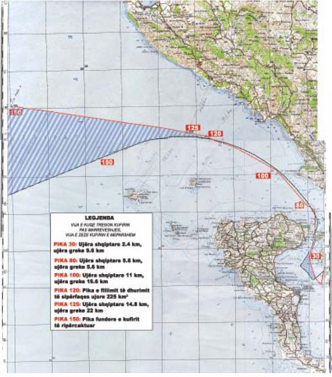 EKSKLUZIVE/ Harta sekrete, Greqisë i falim kufirin deri në Qeparo 18gdif