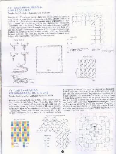 patrones - Patrones de Mantitas para bebés (Tejidas a crochet para Marijou) 1zya7h1