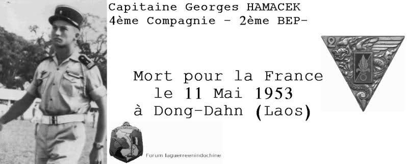 Capitaine George HAMACEK, 2ème BEP, MPLF 1953 25hffx2