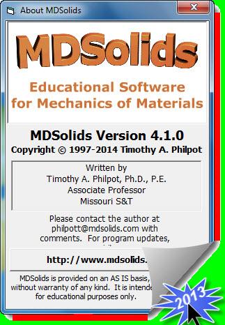 اصدار جديد MDSolids4.1.0(تعليمي) 2aep5x4