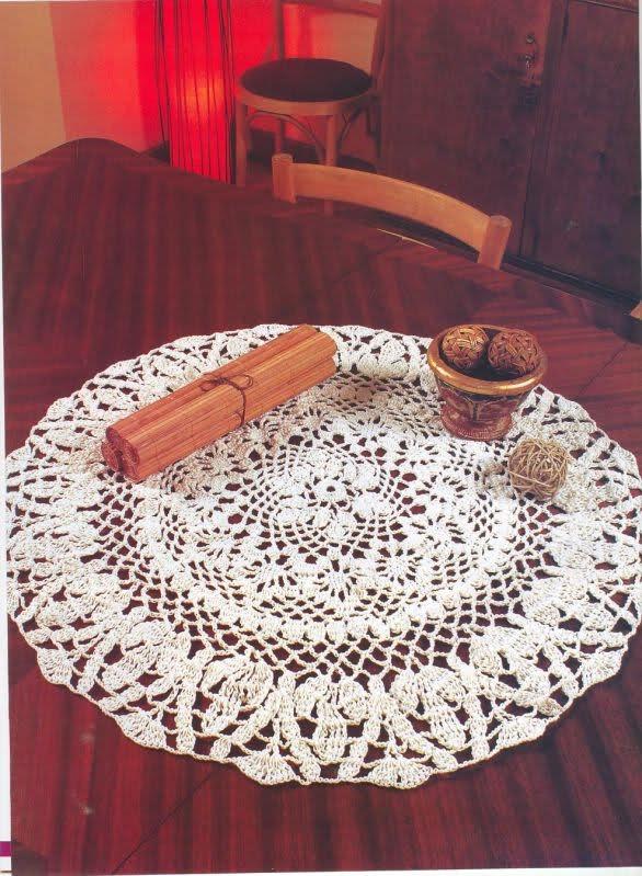 CROCHET - Varios patrones para realizar UN MANTEL a crochet 2hqyzpc