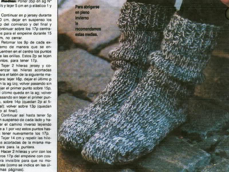 calcetines - Patrón para tejer calcetines o medias de invierno para adultos 2lm2o9u