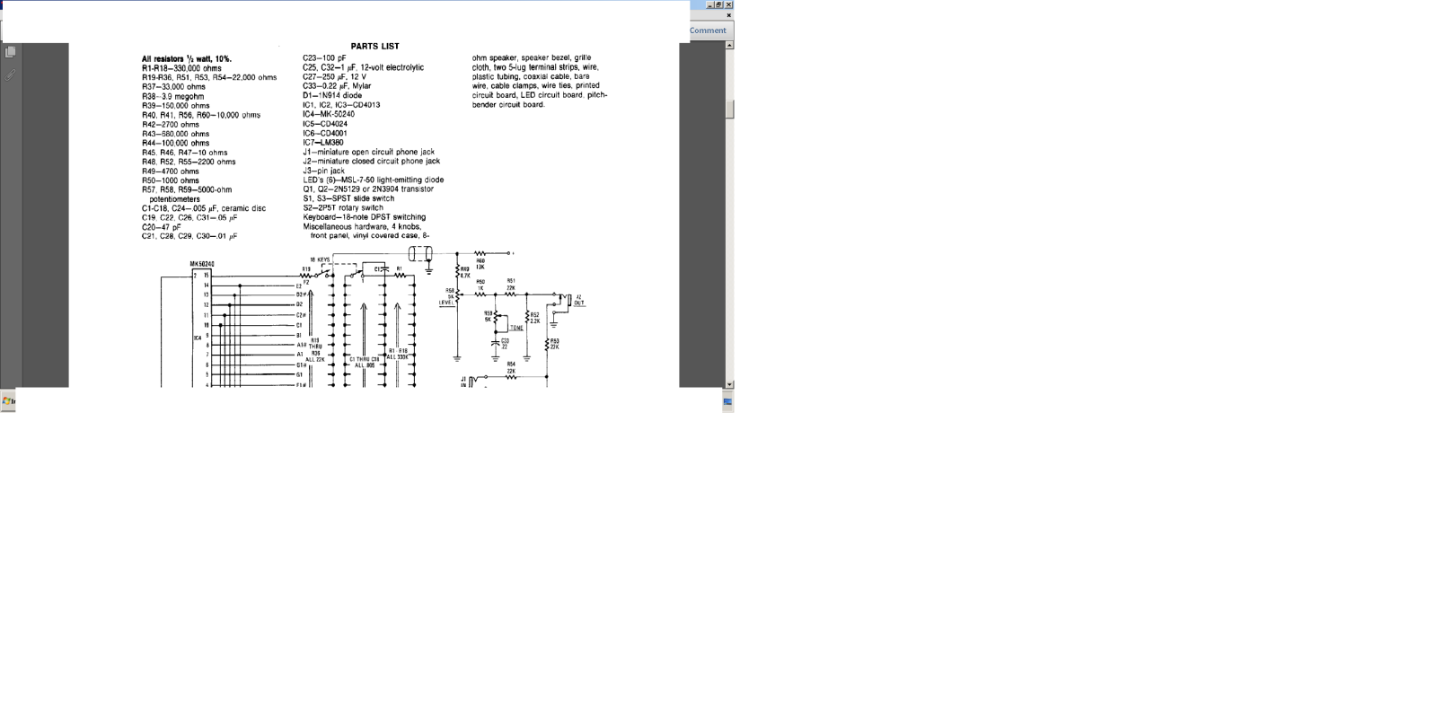 órgao eletronico com M208B1 2m28k7s