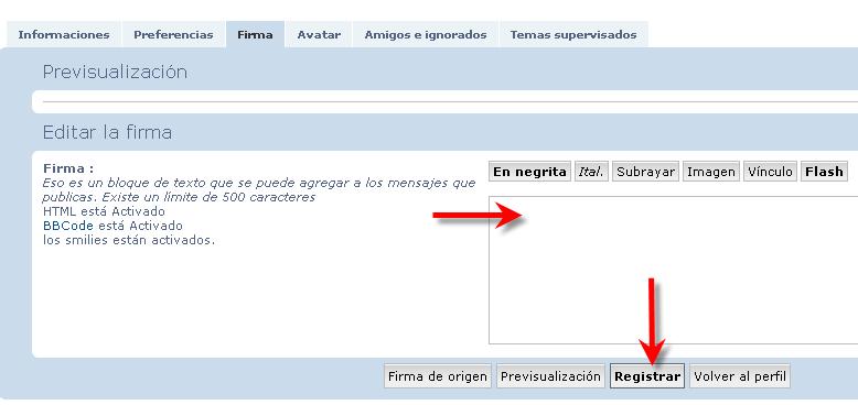Gestión del perfil (firma y avisos de correo) 2pov3uf