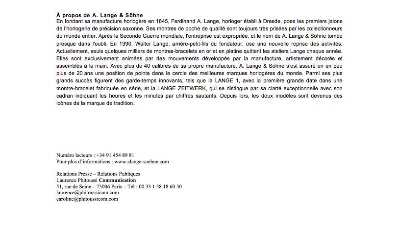 A. Lange & Söhne - Grand Prix de Genève : Rattrapante Calendrier Perpetuel 1815 2zz22hj