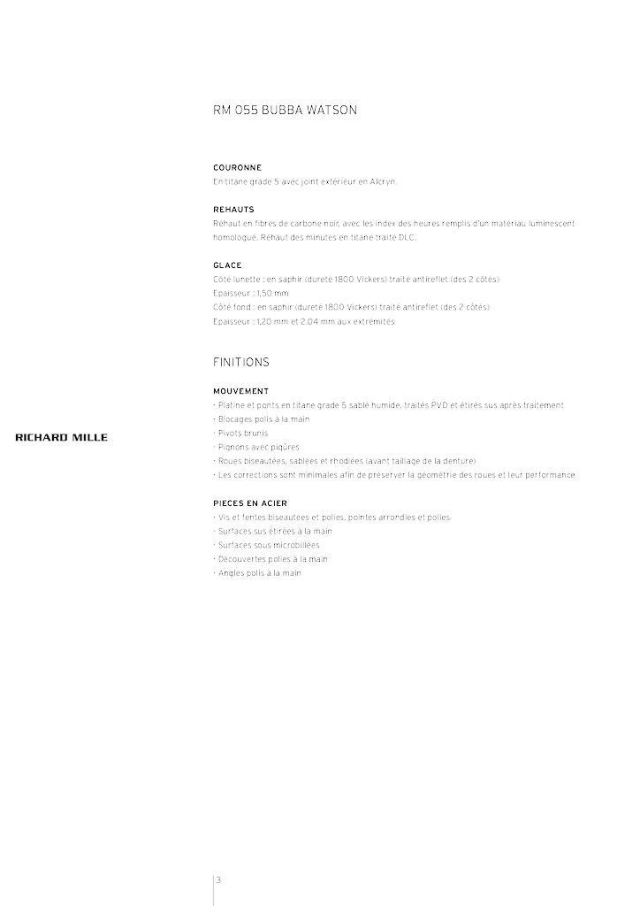 RICHARD MILLE - RM 055 BUBBA WATSON 34z0cbt