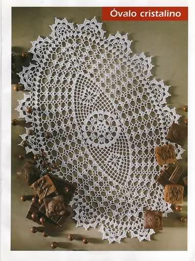 CROCHET - Varios patrones para realizar UN MANTEL a crochet 9h5coz