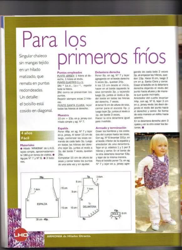 chaleco - Chaleco niña de 6 años, pero es talla 10-12... o A58avp