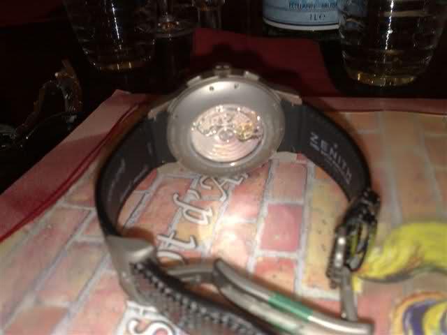 Photo d'une rareté, El-primero cal.410, version boîtier titane Eq16km