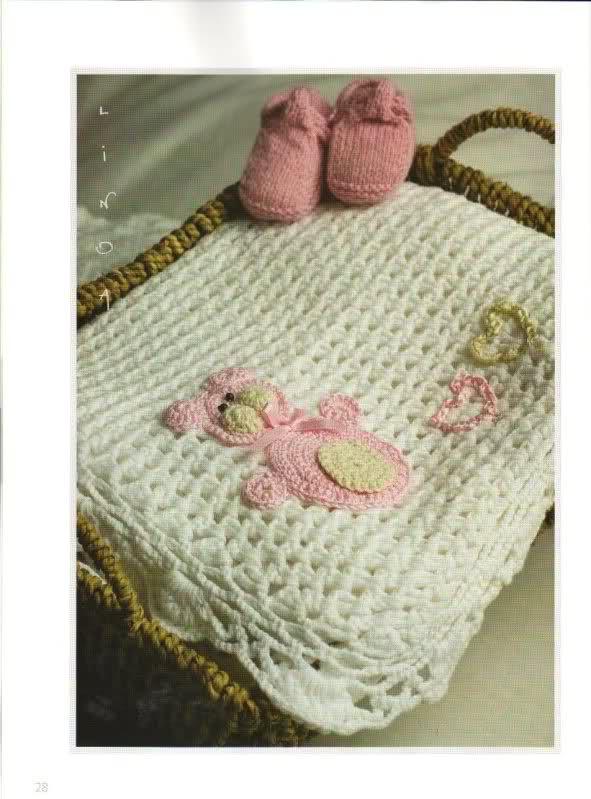 patrones - Patrones de Mantitas para bebés (Tejidas a crochet para Marijou) Ok4x78