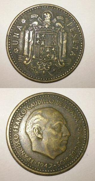 1 Peseta 1947*51 Estado Español  16jpp1i