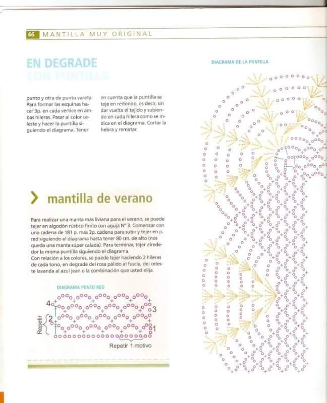patrones - Patrones de Mantitas para bebés (Tejidas a crochet para Marijou) 1yl9hh
