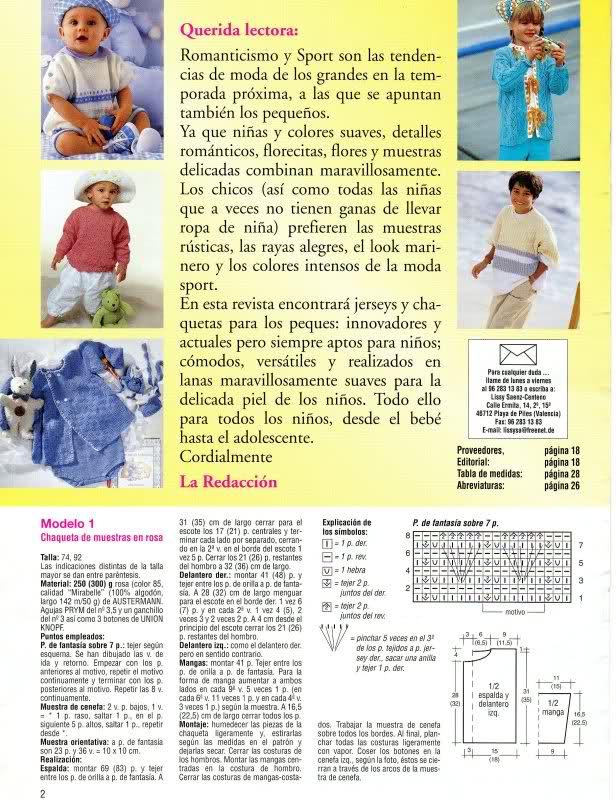 chaquetitas bebe - Patrones para realizar chaquetitas de bebés (Matilde) 205y5hg
