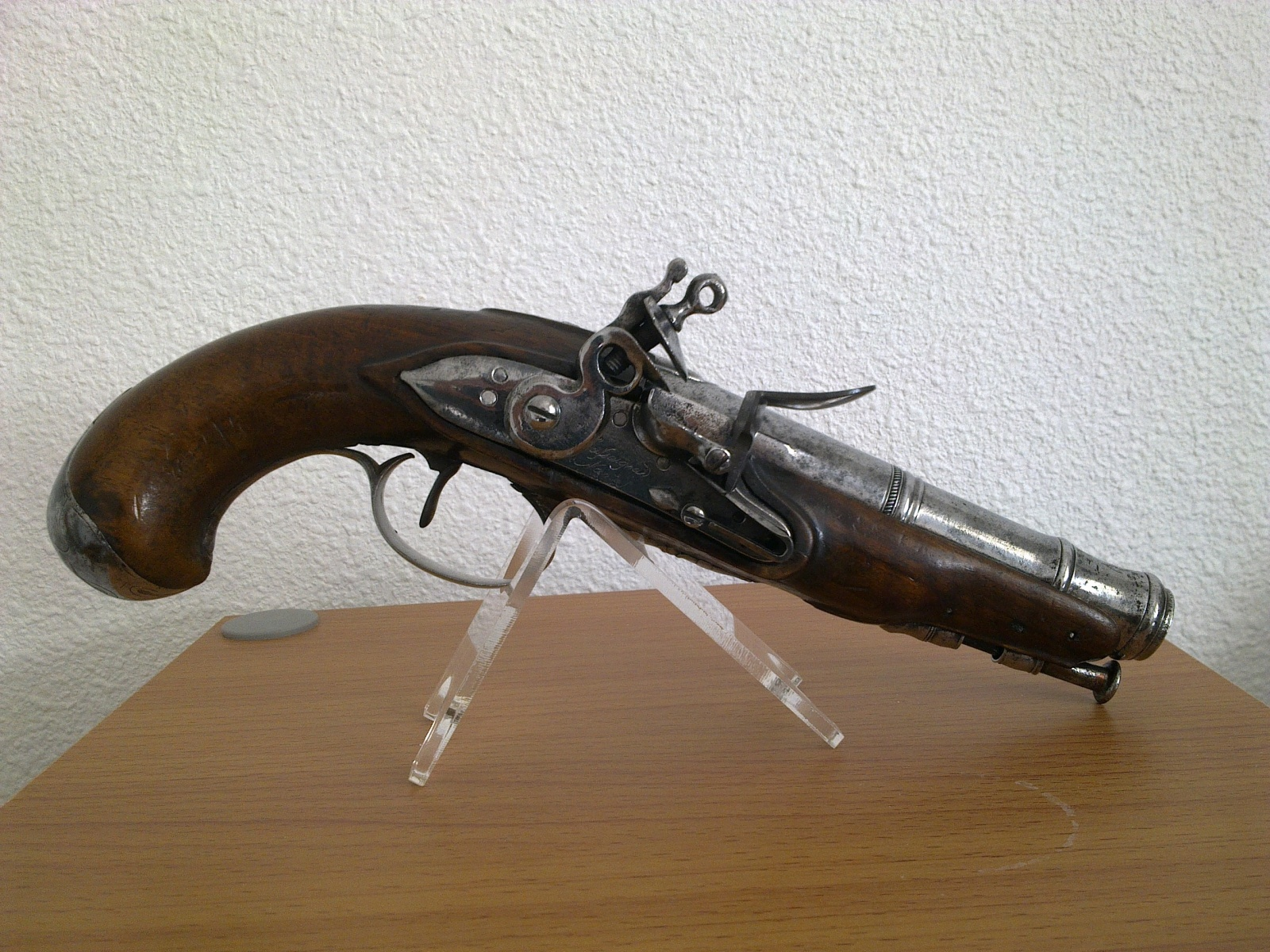 problème avec grand ressort de la platine à silex d'un pistolet CASSAIGNARD  23mosgy