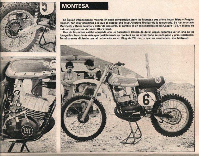 Montesa Cappra 75 - Trofeo 1976 * Rafbultaco 25ul5wl