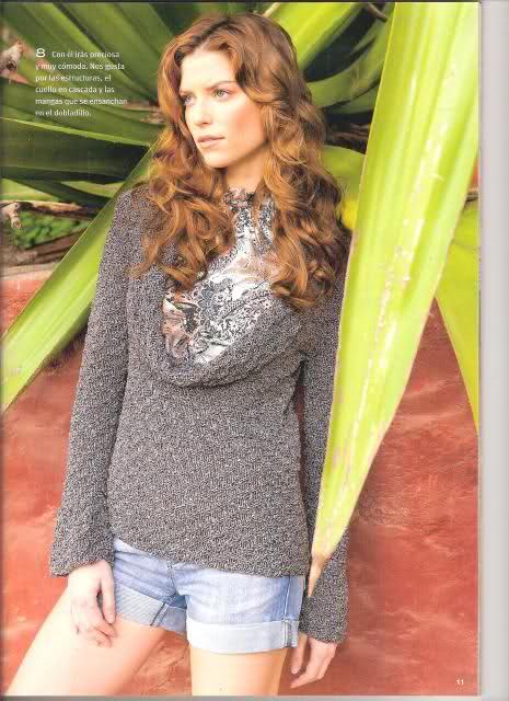 agujas - Patrón suéter verano en dos agujas  2hhqc82