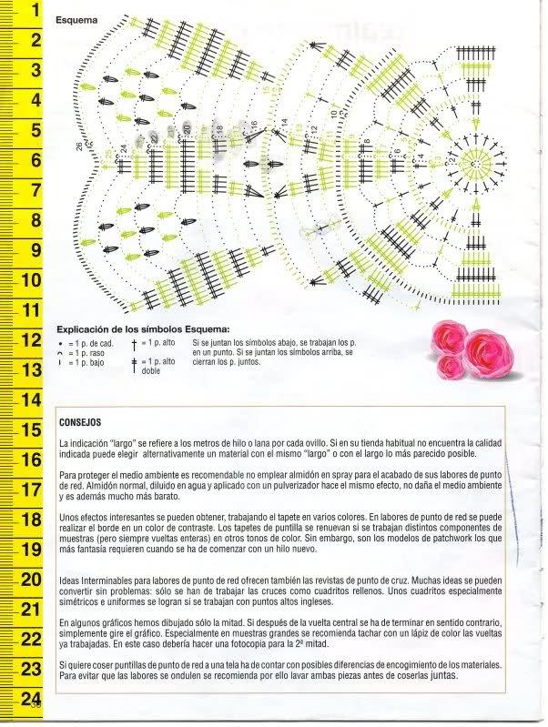 CROCHET - Patrón para realizar tapete en redondo a crochet (en dos colores) 2j5e7tc