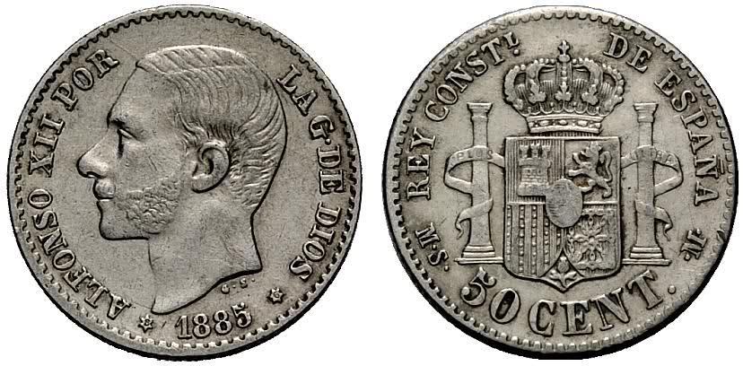 Ayuda con estos 50 céntimos 1880 Alfonso XII encapsulados PCI 2l9i494