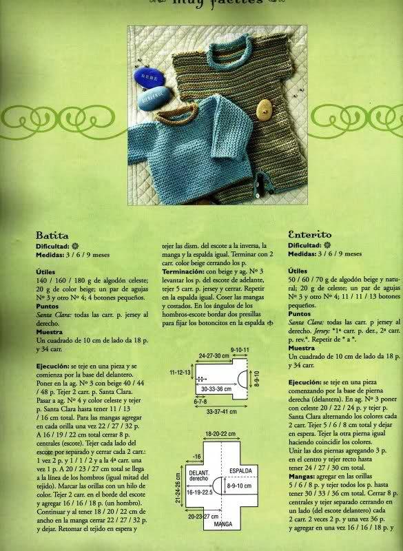 patrones - Patrones de Jerseys para bebés (6 meses) solicitado por Matilde 2w2iwxy