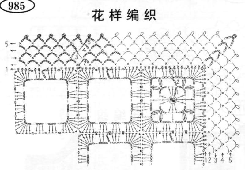 patrones - Patrones de Mantitas para bebés (Tejidas a crochet para Marijou) 972lxy