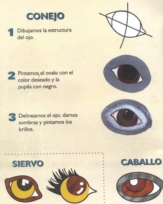 Aprenda a pintar ojos Hsl653