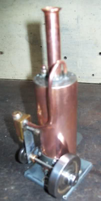 Motor a vapor oscilante de caldera vertical Sgpkau