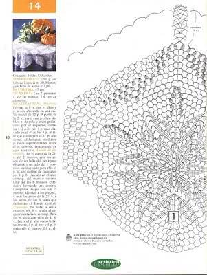 CROCHET - Varios patrones para realizar UN MANTEL a crochet Sw8g7c