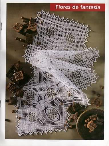 CROCHET - Varios patrones para realizar UN MANTEL a crochet 118jcck