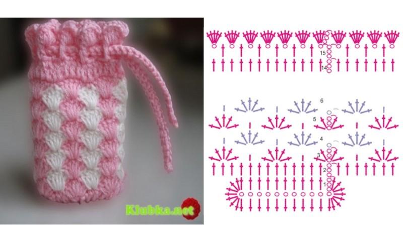 CROCHET - Pequeña bolsita tejida a crochet para guardar nuestros ganchitos 11vt9g5