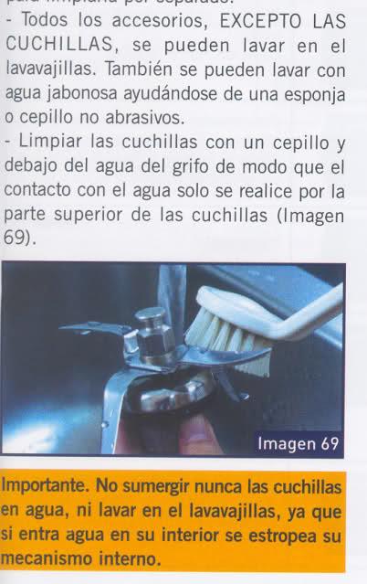 Limpieza de las cuchillas de la Mycook 15dk7l