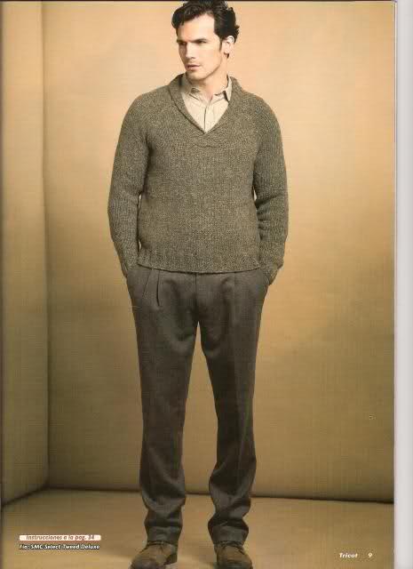 hombre - patron sweater cuello cruzado de hombre 1hxfmg