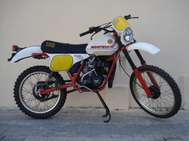 Montesa Enduro 75 H6 '81 Blanca, muy cuidada  213s0eh