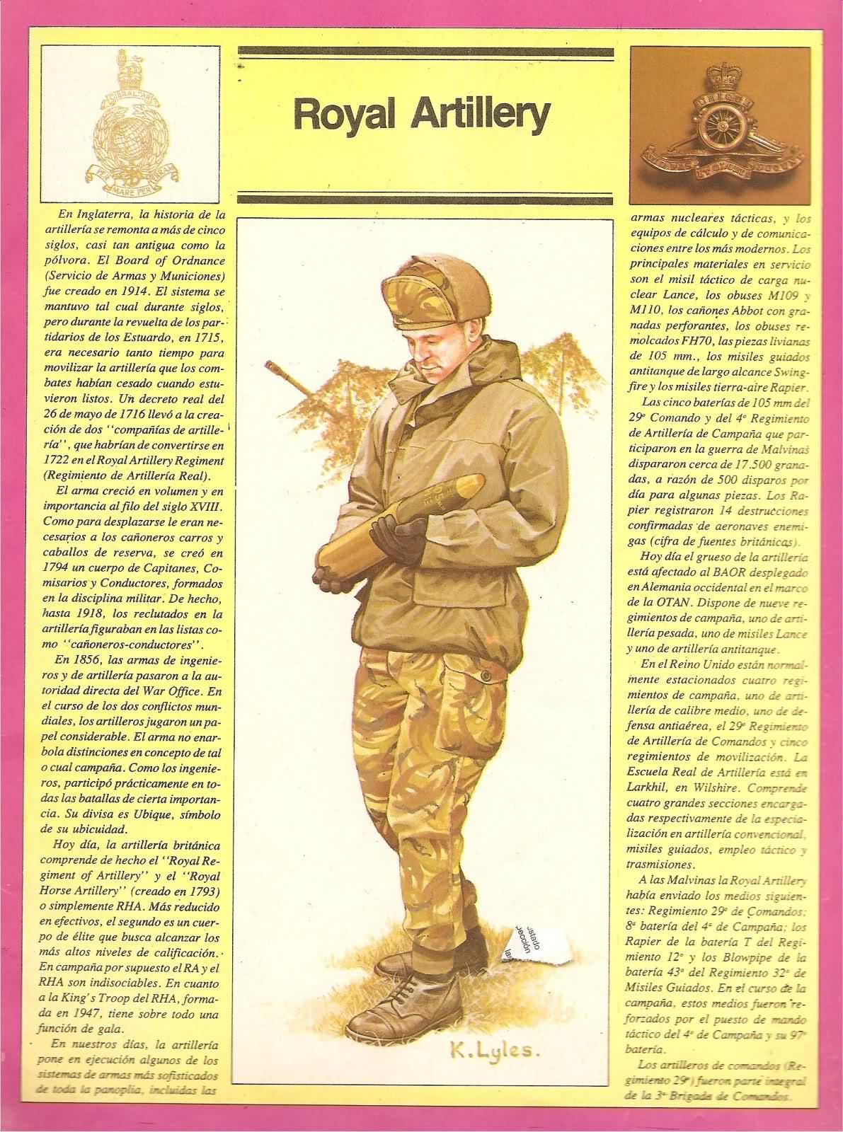Uniformes ingleses Guerra de Malvinas 2dlw0up