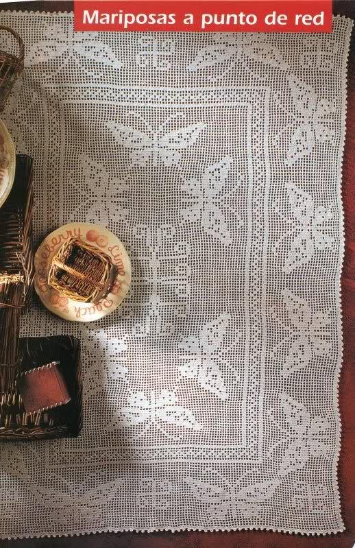 CROCHET - Varios patrones para realizar UN MANTEL a crochet 2hq8dw9