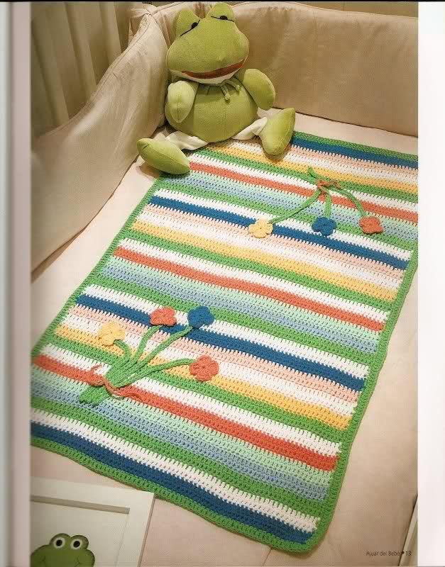patrones - Patrones de Mantitas para bebés (Tejidas a crochet para Marijou) 2j0xcgw