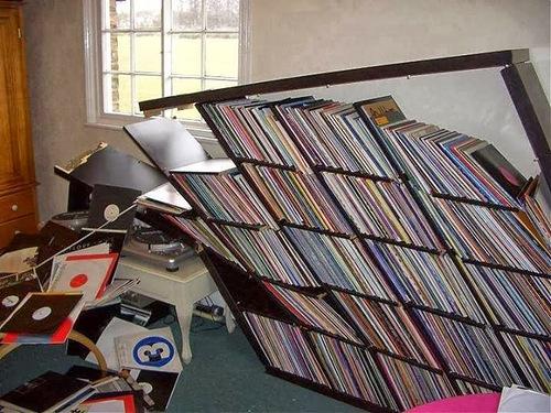 Estante Expedit Ikea, para arrumação de discos de vinil 2v8mnns