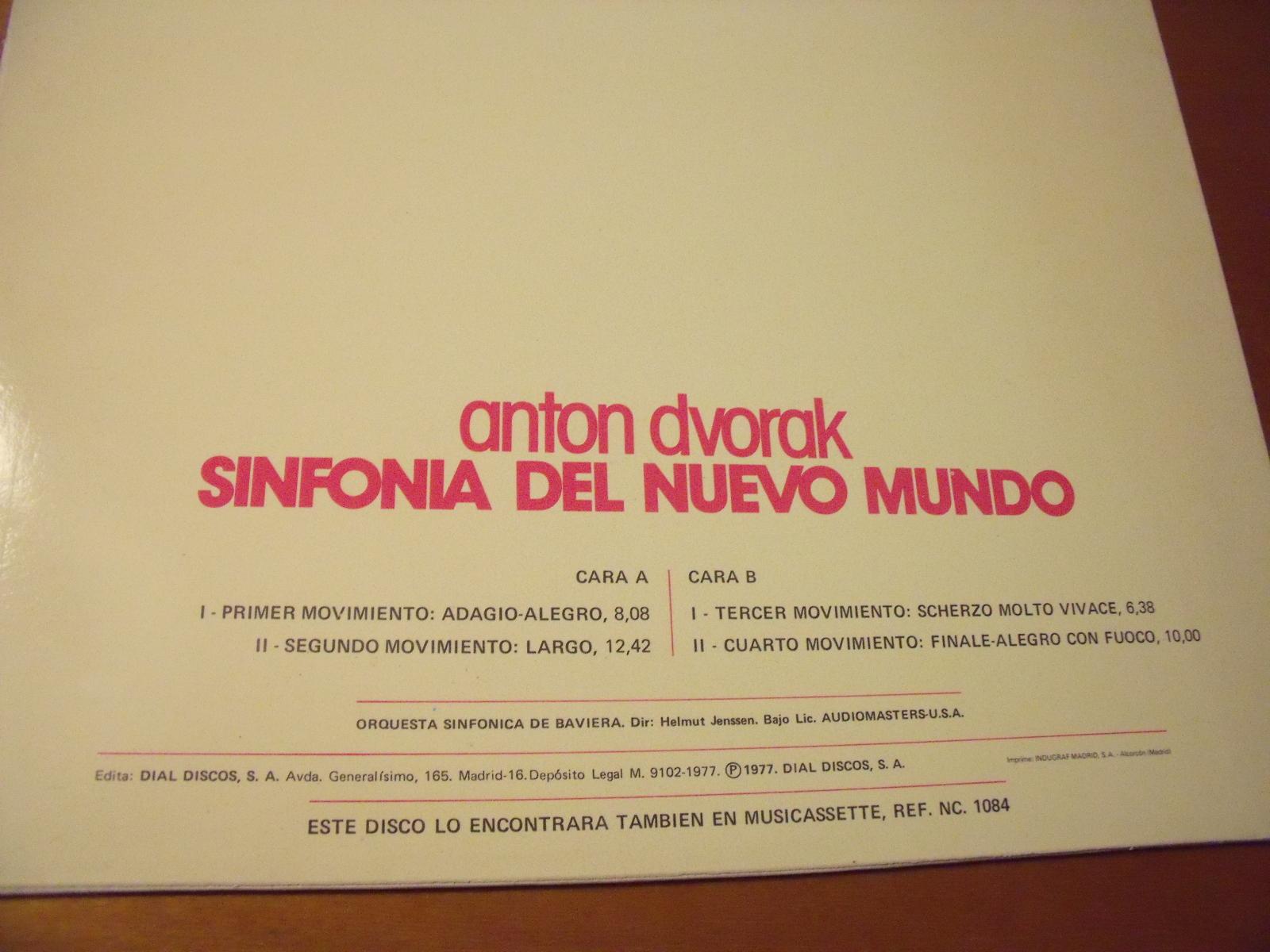 """DVORAK SINFONÍA Nº 9 """"DEL NUEVO MUNDO"""" 2zyjs5w"""