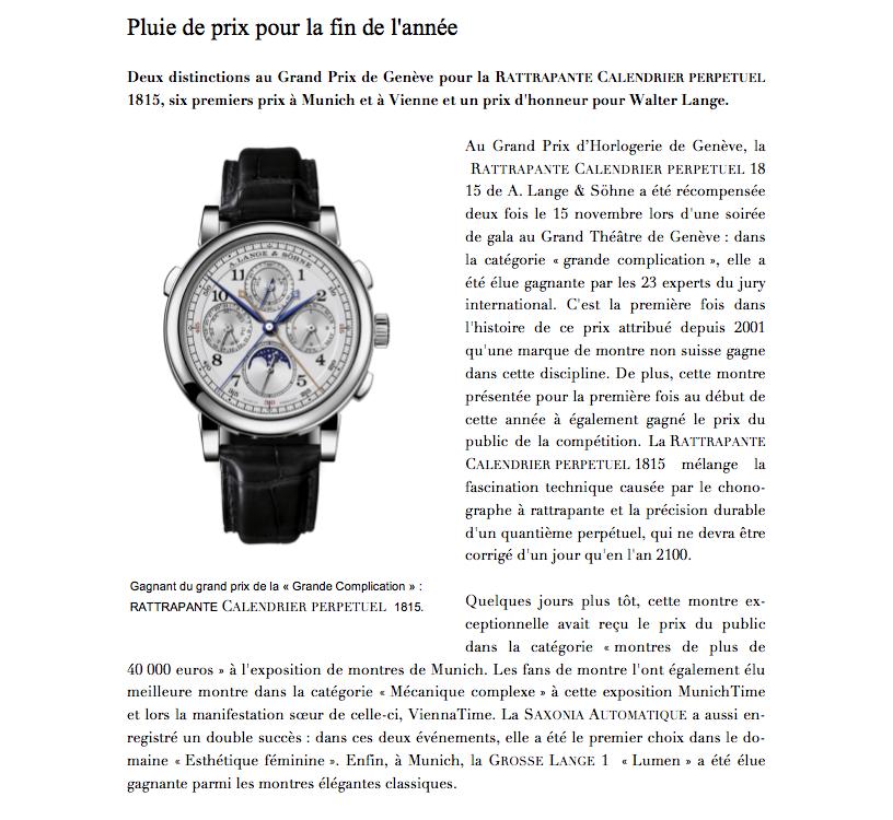 A. Lange & Söhne - Grand Prix de Genève : Rattrapante Calendrier Perpetuel 1815 30bpcb9