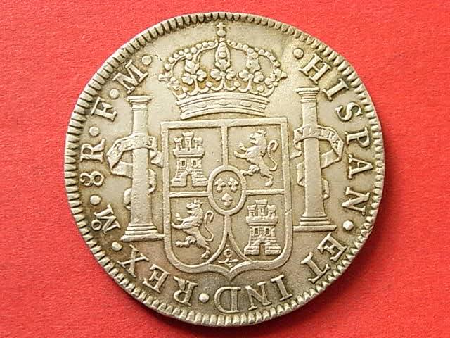 8 Reales 1789. Carlos IV con busto de Carlos III. Ordinal IV. Méjico. 34j7t55