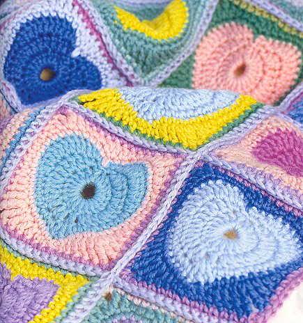 patrones - Patrones de Mantitas para bebés (Tejidas a crochet para Marijou) 4i0w