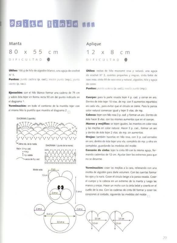 patrones - Patrones de Mantitas para bebés (Tejidas a crochet para Marijou) 6xw76u