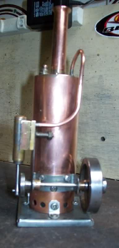 Motor a vapor oscilante de caldera vertical O9flgi