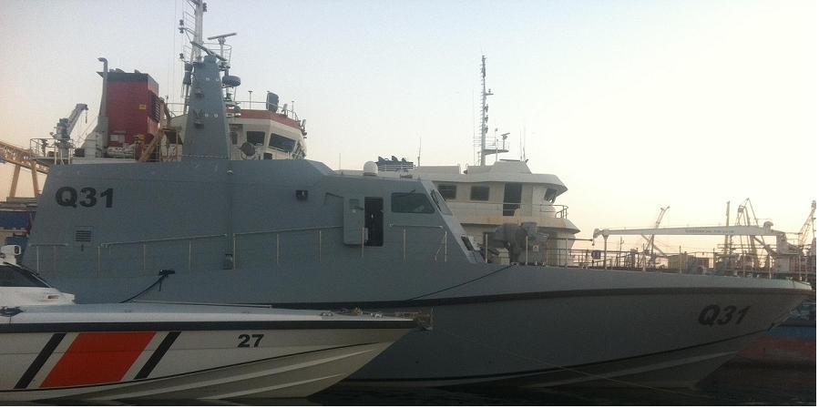 البحريه القطريه تستلم اول قارب دوريه نوع MRTP-34 تركي الصنع  Op729i