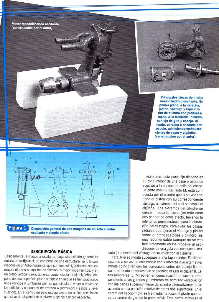Motor a vapor oscilante de caldera vertical R6zbz4