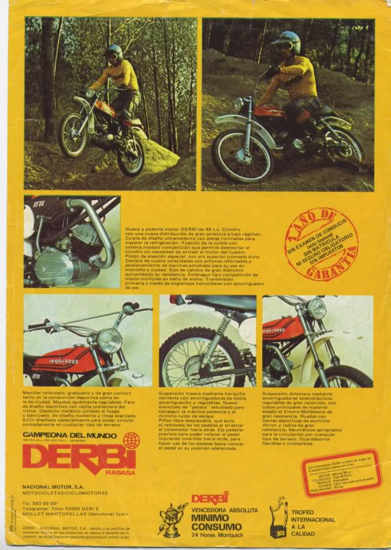Publicaciones Derbi Cross y Diablo Rit461