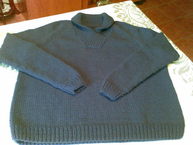 sweater con cuello cruzado (de hombre) Xen6vl