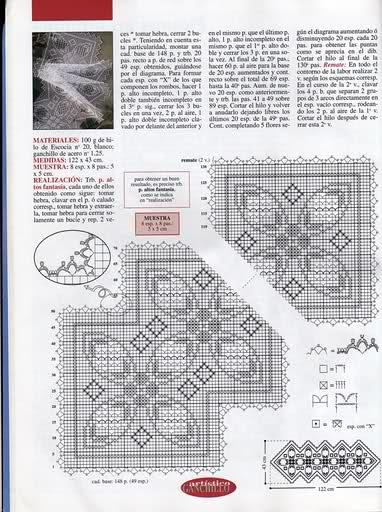 CROCHET - Varios patrones para realizar UN MANTEL a crochet 103yj5f