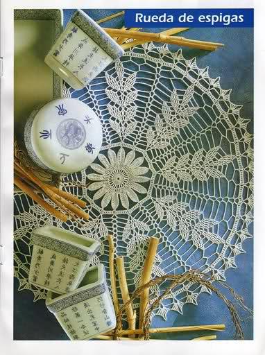 CROCHET - Varios patrones para realizar UN MANTEL a crochet 16lgpld